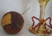 Beaded ball Christmas ornament