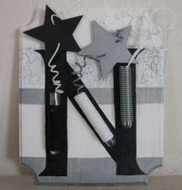 Black and white n for noel christmas picture frame - Tableau de noel a fabriquer ...