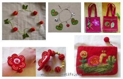 Designs in carded wool