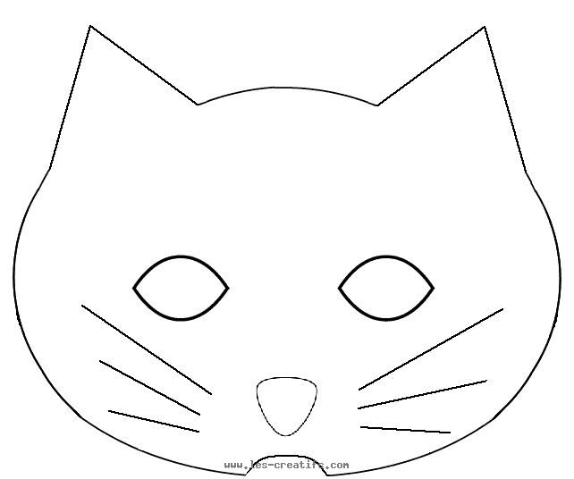 Clever image for printable cat mask