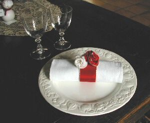 rose ring napkin