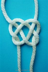 Chinese knot for making a necklace