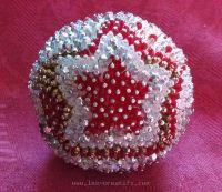 Ball table decoration with Christmas star design