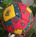Fabric-covered ball