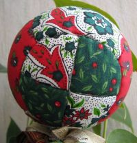 Patchwork fabric Christmas ball