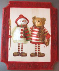 Welcome Christmas door with dimensional napkin