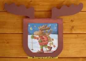 christmas reindeer picture frame