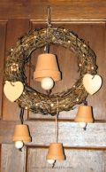 wreath in natural materials