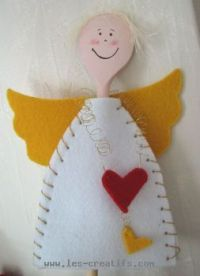 Wooden spoon Christmas angel
