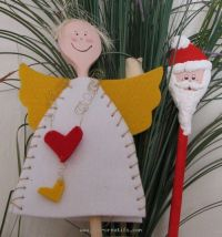 Christmas wooden spoon people