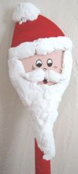 Wooden spoon Father Christmas design