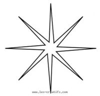 Thin 8-point Christmas star stencil