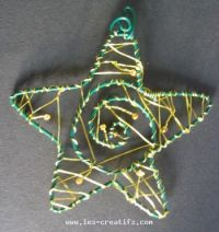 Wire Christmas star with beads