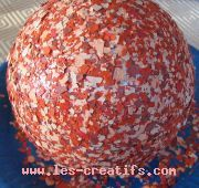 Flock paint flakes-decorated Christmas ball