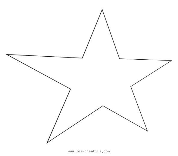 stencil for a stretched/elongated star