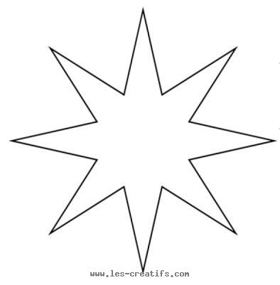 eight point christmas star pattern.