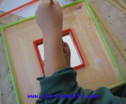 kids' mirror craft design