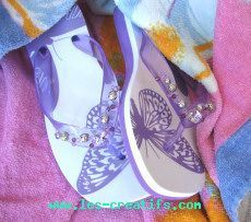 customizing your flip-flops with beads