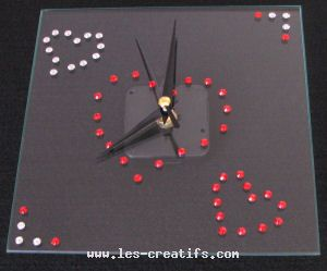 decorate a clock with rhinestones