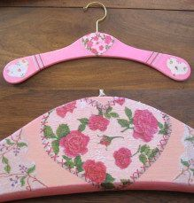 Decorated clothes hanger