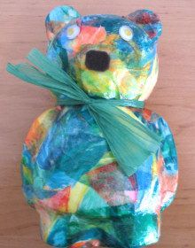 Decorative Decopatch teddy bear