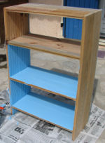 revamped wood shelving