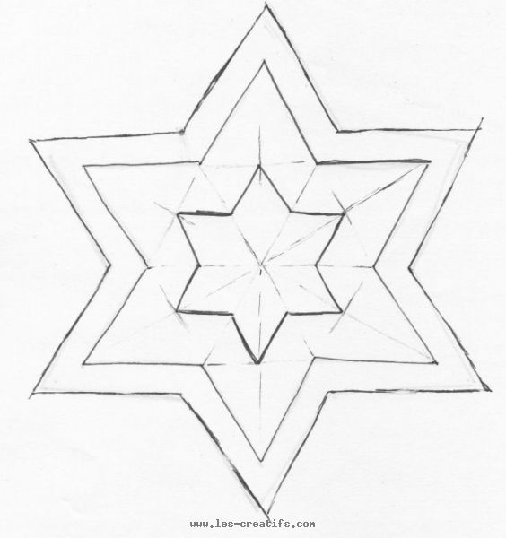 Pattern for the felt star - Etoile a decouper ...