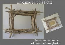 photo frame made from driftwood