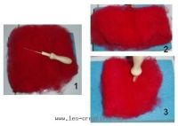 Carded wool felting