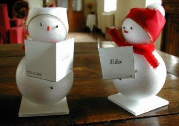Snowmen christmas place cards