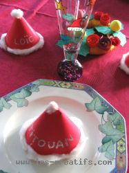 Place cards and festive decoration for a christmas table - Marque place noel a faire soi meme ...