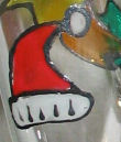 Christmas painted glass design