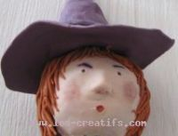 The 'made-up' witch - head