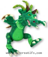 Fimo clay dragon