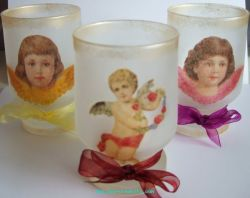 Angel tea light holders