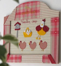 hens' fabric picture