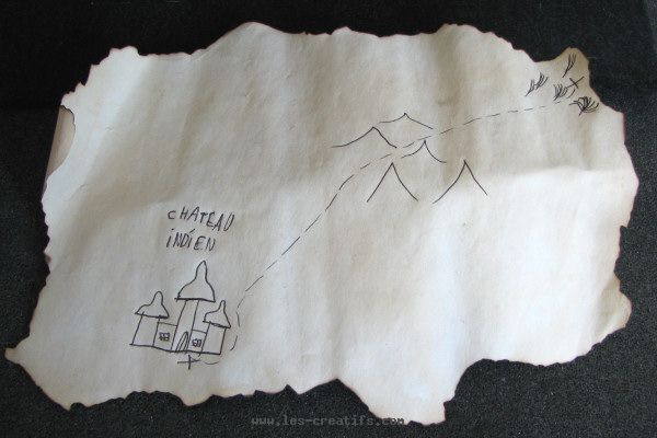 treasure map on parchment