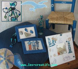 ocean-themed arts and craft design