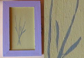 Painting the sprigs of lavander