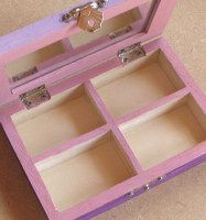 The inside of the jewelry box