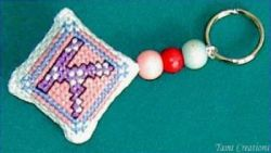 cross stitch pattern for a key rings