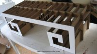 making the frame of the cardboard table