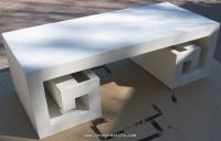 Applying coating to cardboard table