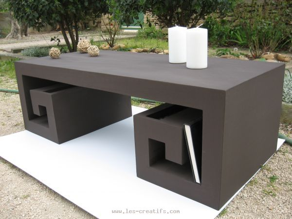 Low table made from cardboard