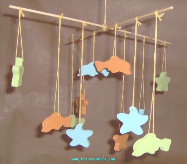 Wood Mobile For Child S Bedroom