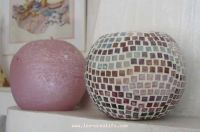 mosaic design candle