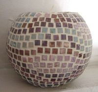 Mosaic design ball candle