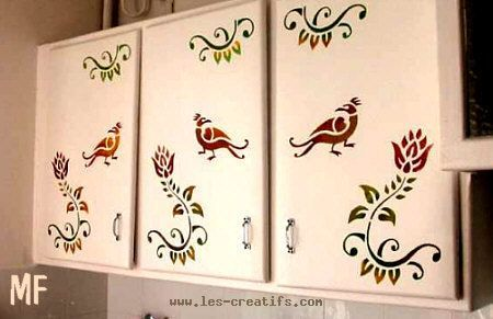 Revamping Kitchen Cupboards And Cabinets With The Help Of A Stencil