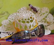 Bead hat pin, rhinestone glasses