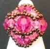 Fuchsia Feroe bead ring pattern